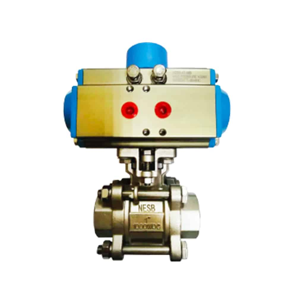 3-PC Pneumatic Ball Valve Featured