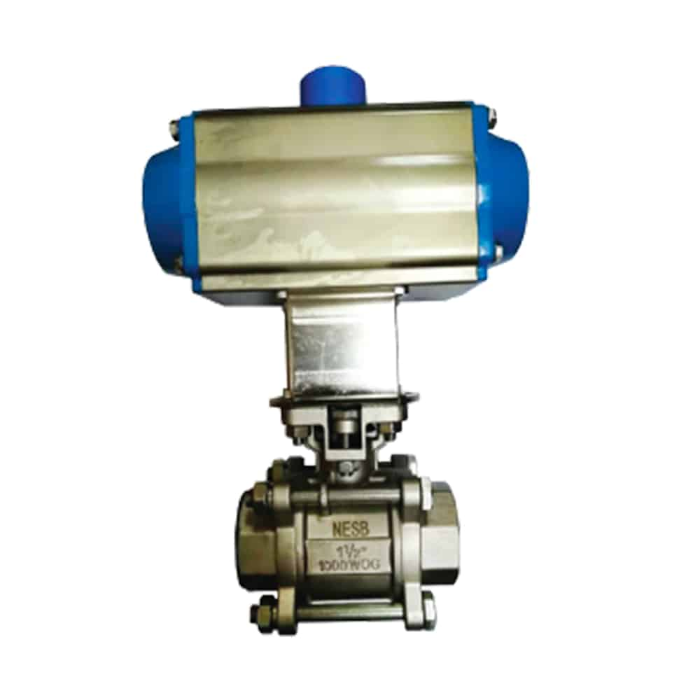 3-PC Pneumatic Ball Valve (High Mounting) Featured