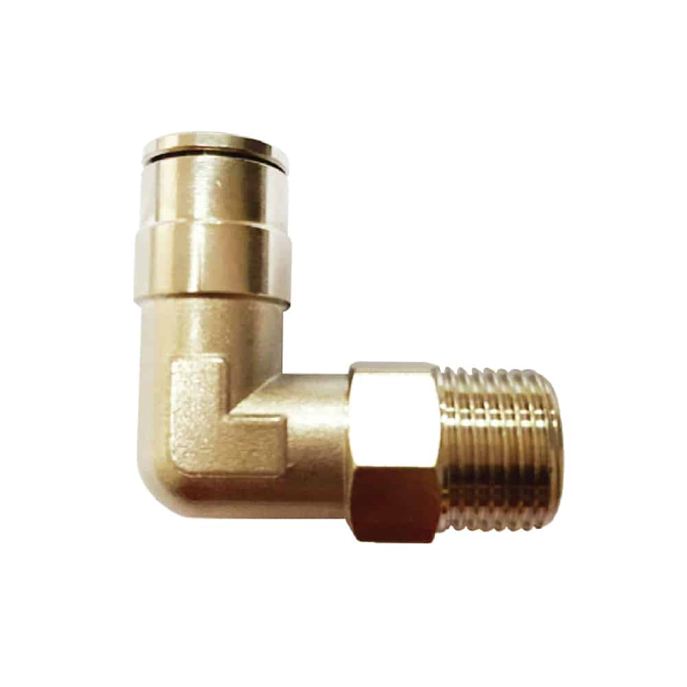 Nickel Plated Elbow Fitting