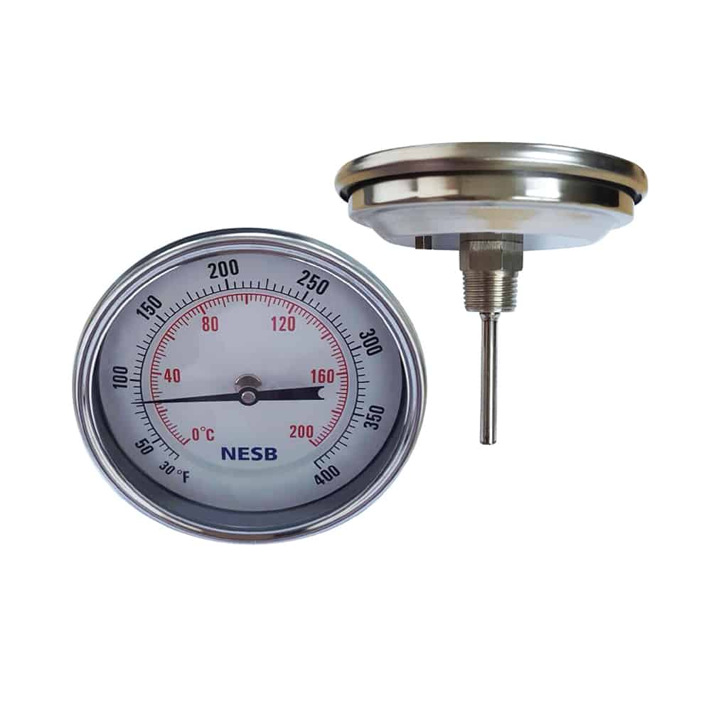 SUS BI-Metal Thermometer Back Connection