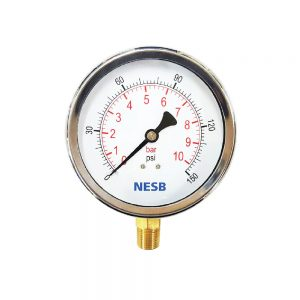 Semi SUS Pressure Gauge Brass Bottom Connection